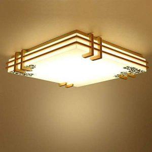 chjk briht beau, tables et protocoles la vélin Salon Chambre Chinoise, japonaise de lampe LED Ampoules avec bois massif 450mm Plafonnier de la marque Decorative LightingCHJK image 0 produit