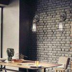 CLAXY Applique murale rustique en métal avec cage style industriel - Pour ampoule à filament Edison de la marque CLAXY image 4 produit