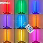 Colonne lumineuse Laugar en plastique blanc à LED RGB - réglage de la couleur par télécommande - lampadaire pour salon - chambre à coucher - chambre d'enfant de la marque hofstein image 1 produit