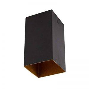 Construction de Spot de plafond carrée–Noir et Or–GU10 de la marque ElectroStyle image 0 produit