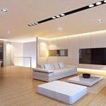 Construction de Spot de plafond carrée–Noir et Or–GU10 de la marque ElectroStyle image 1 produit