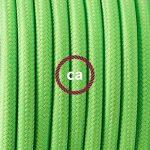 Cordon pour lampadaire, câble RF06 Effet Soie Vert Fluo 3 m. Choisissez la couleur de la fiche et de l'interrupteur! - Blanc de la marque Creative-Cables image 2 produit