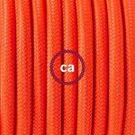 Cordon pour lampadaire, câble RF15 Effet Soie Orange Fluo 3 m. Choisissez la couleur de la fiche et de l'interrupteur! - Blanc de la marque Creative-Cables image 2 produit