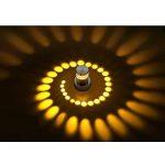 Couloir Porche Lampe Applique Murale 3W LED Aluminium Plafonnier Effet Lumières Chambre Design pour Salle Restaurant Salon Escalier d'entrée de gamme Jaune de la marque MMLIGHT image 1 produit