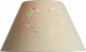 Country Style Lin 25,4cm Coolie Abat-jour en pendentif avec cœur brodée ~ ou lampe de table Abat-jour de la marque Home Lighting image 0 produit