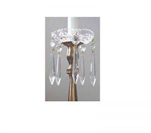 coupelle en cristal 85mm avec des pampilles - pour lustres - bougeoir - candélabre de la marque cristal pour lustre image 0 produit