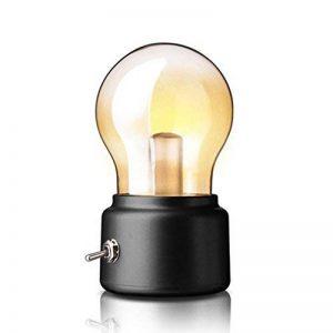 Créative Ampoule Bulb Rétro USB Rechargeable Sans Fil Led Lumière Blanche Chaude 2W/ Mini Lampe de Table / Lampe de Chevet / Lampe Portable Vintage ( douille noire ) de la marque AZX image 0 produit