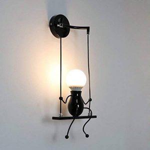 Create for Life Créatif Rétro Applique Murale Intérieur Vintage Lampe murale Industriel Lampe de Mur Fer à repasser pour bar,Chambre d'enfants de la marque Create for Life image 0 produit