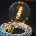 Creative-Cables cbl700156Ampoule Doré LED XXL Boule G200Filament courbé à double spirale 5W E27Dimmable 2000K, multicolore de la marque Creative-Cables image 1 produit