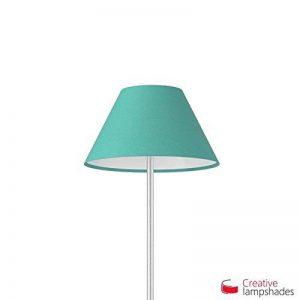 Creative Lampshades Abat-jour Chinois Revêtement Cinette Turquoise - Diamètre 25-11cm - H. 13cm, E27 Pour Suspension, NON de la marque Creative Lampshades image 0 produit