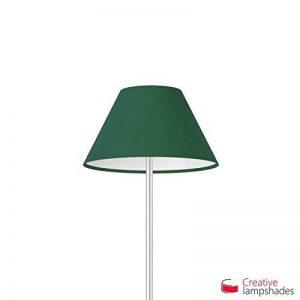 Creative Lampshades Abat-jour Chinois Revêtement Toile Vert Foncé - Diamètre 30-13cm - H. 14cm, E27 Pour Suspension, NON de la marque Creative Lampshades image 0 produit
