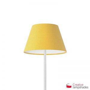 Creative Lampshades Abat-jour Empire Revêtement Toile Jaune Or - Diamètre 30-18cm - H. 17cm, E27 Pour Lampe de Table, NON de la marque Creative Lampshades image 0 produit