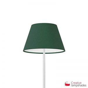 Creative Lampshades Abat-jour Empire Revêtement Toile Vert Foncé - Diamètre 25-16cm - H. 15cm, E14 Pour Lampe de Table, NON de la marque Creative Lampshades image 0 produit