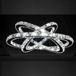 Cristal deckenleuchte, topmax Suspension LED 30* 50* 70cm 3anneaux cristal Chromé Blanc froid a + de la marque TENLION image 2 produit