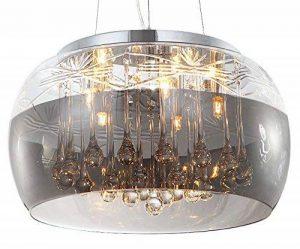 Cristal LED plafonnier suspension lampe lustre pendentif éclairage lumière abat-jour verre salle à manger désign moderne Ø 40cm 5xG9 douille de la marque Lewima image 0 produit