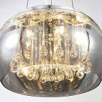 Cristal LED plafonnier suspension lampe lustre pendentif éclairage lumière abat-jour verre salle à manger désign moderne Ø 40cm 5xG9 douille de la marque Lewima image 2 produit