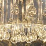 Cristal LED plafonnier suspension lampe lustre pendentif éclairage lumière abat-jour verre salle à manger désign moderne Ø 40cm 5xG9 douille de la marque Lewima image 3 produit