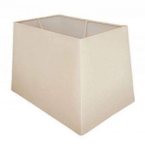 Crème rectangulaire lampe de table Abat-jour–Taille: 33cm de la marque Lights and Linen image 0 produit