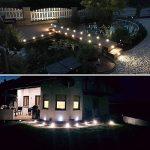 CroLED® 10x Lampe de Spot A LED pour Terrasse Enterré Plafonnier - En Aluminium 0.6W IP67 DC12V Blanc Etanche Avec Alimentation EU - Lampe Extérieur Déco Pour Chemin Escalier Piscine Lampe Sécurité de la marque CroLED image 3 produit