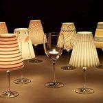 Cuadros Lifestyle Lights/Abat-Jour pour Verre à vin/Abat-Jour Décoratif/Lampe/Bougie Chauffe-Plat/Lampe de Table Debora, Ca. 34x16 cm de la marque Cuadros Lifestyle image 2 produit