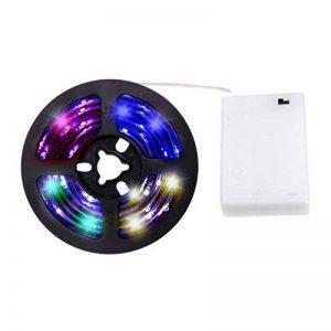 cuzile Barre 50cm Stripe Lumière RGB Multicolore avec batterie Box Piles + Mini Contrôleur pour armoire de cuisine Luminaire d'intérieur encastrable avec bandes LED Strip de la marque CuZiLe image 0 produit