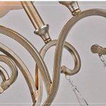 CWJ Lustre - Lumières décoratives en Cristal Lustre en Verre Art Salon Chambre Restaurant Fer Carte Personnalité Simple Design de la marque CWJ image 3 produit