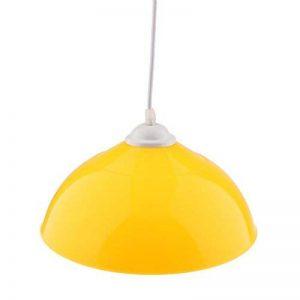 D DOLITY E27 Abat-jour en PVC Lampe Suspendu Mode Lustre Décoration pour Maison Hôtel Magasin chambre bar bureau - Jaune de la marque D DOLITY image 0 produit