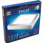 DavledPlafonnier LED carré plat lumière froide 1800lumens Argenté 18W 230mm de la marque Davled image 1 produit