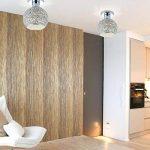 DAXGD Lampe en aluminium de plafond Mini plafonnier pour le vestiaire, le couloir et le salon (Diamètre du plafonnier: 18cm) de la marque DAXGD image 4 produit