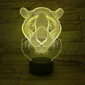 DDBBhome Lampe pour Enfants 3D Lion Night Light Couleurs 3D Luminaria Creative LED Lustre Acrylique Enfants Enfants Cadeaux Indoor Deco Lampe De Chevet de la marque DDBBhome image 0 produit