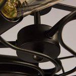 DEED Personnalité créative éclairée à la Lampe Lustre Nord de l'europe rétro Style Industriel Internet Cafés Bar Ventilateur de Fer Lustre Éclairage décoratif de la marque DEED image 3 produit