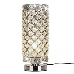 delle fabriqué cristal Lampe de table Lampe de chevet décorative Argenté de la marque Dellemade image 0 produit