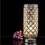 delle fabriqué cristal Lampe de table Lampe de chevet décorative Argenté de la marque Dellemade image 1 produit
