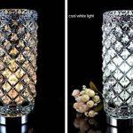 delle fabriqué cristal Lampe de table Lampe de chevet décorative Argenté de la marque Dellemade image 2 produit