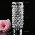 delle fabriqué cristal Lampe de table Lampe de chevet décorative Argenté de la marque Dellemade image 3 produit