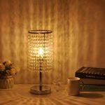 delle fabriqué Fonction Touch cristal Lampe de table Lampe de chevet décorative Argenté de la marque Dellemade image 1 produit