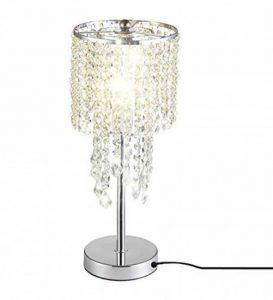delle Made Rain Drop Argent Cristal Lampe de table pour chambre à coucher, salon, chambre une fille ou comme cadeau de mariage de la marque Dellemade image 0 produit
