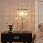 delle Made Rain Drop Argent Cristal Lampe de table pour chambre à coucher, salon, chambre une fille ou comme cadeau de mariage de la marque Dellemade image 2 produit