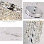 delle Made Rain Drop Argent Cristal Lampe de table pour chambre à coucher, salon, chambre une fille ou comme cadeau de mariage de la marque Dellemade image 3 produit