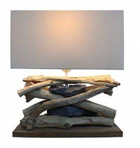 Design Lampe Baltic Sea (clair) en bois flotté et pierres de la marque Grafinteriors image 0 produit