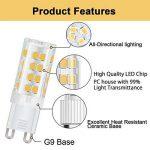 DiCUNO G9 Led Ampoules, Base En Céramique, 4W (Equivalent 40W Ampoules Halogènes), 400Lm, Blanc Chaud 3000k, Culot G9, G9 Ampoules Pour l'Éclairage Domestique, Pack De 12 de la marque DiCUNO image 3 produit