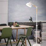 Diolumia - Lampadaire de lecture Sandrine Moderne blanc - Métal bois marbre - Abat-jour demi-sphère - Hauteur réglable pour salon chambre cuisine bureau de la marque Diolumia image 1 produit