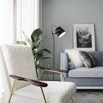 Diolumia - Lampadaire design moderne métal noir H140.5cm - Tête orientable - Lampe à poser sur pied pour salon cuisine salle à manger bureau de la marque Diolumia image 1 produit