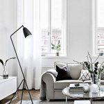 Diolumia - Lampadaire Martin design trépied - Métal noir - Abat-jour conique - H150cm - Lampadaire de lecture pour salon chambre cuisine bureau. de la marque Diolumia image 3 produit