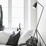 Diolumia - Lampadaire Martin design trépied - Métal noir - Abat-jour conique - H150cm - Lampadaire de lecture pour salon chambre cuisine bureau. de la marque Diolumia image 4 produit