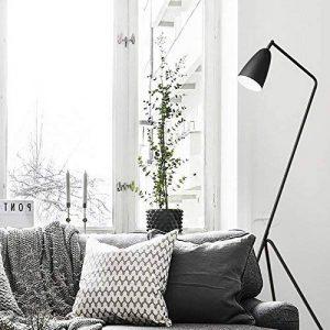 Diolumia - Lampadaire Martin design trépied - Métal noir - Abat-jour conique - H150cm - Lampadaire de lecture pour salon chambre cuisine bureau. de la marque Diolumia image 0 produit