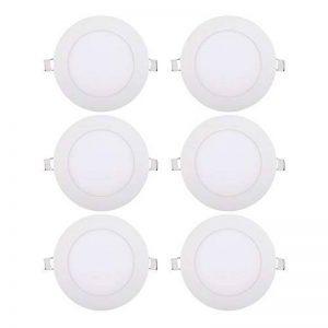 Diolumia - Lot de 6 Spots LED Encastrable Extra plat rond - 9W 720LM - Equivalent 70W - Blanc chaud 3000K - Durée de vie 50 000h - Lampe Downlight Plafonnier LED salon chambre cuisine - 150*20*mm [Classe énergétique A+] de la marque Diolumia image 0 produit