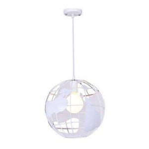 Diolumia - Suspension design globe terrestre métal blanc - Diamètre 30cm- Suspension moderne douille E27 pour cuisine salle à manger chambre couloir etc … de la marque Diolumia image 0 produit