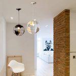 Diolumia - Suspension design globe terrestre métal blanc - Diamètre 30cm- Suspension moderne douille E27 pour cuisine salle à manger chambre couloir etc … de la marque Diolumia image 3 produit