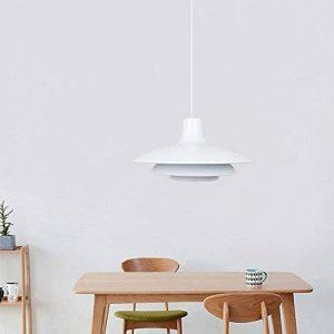 Diolumia - Suspension à Trois Abat-jour Superposés - Métal Blanc - Douille E27 Max. 60W - Diam.35cm - Câble ajustable - Lampe suspendue pour restaurant, salle à manger, salon etc. de la marque Diolumia image 0 produit
